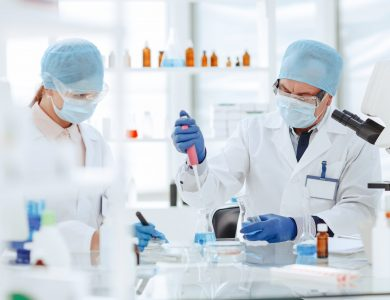 Microbiology scientists are working on creating a new vaccine.